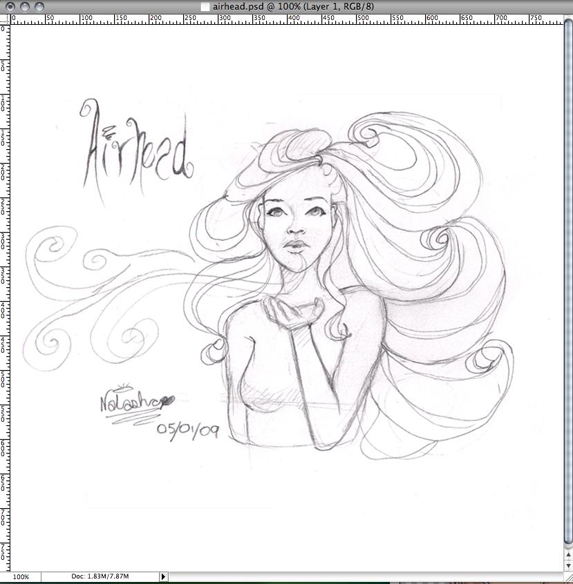 big airhead sketch by FoxyRepublic
