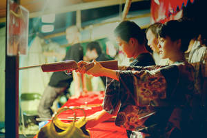 A Girl And A Gun by hakanphotography