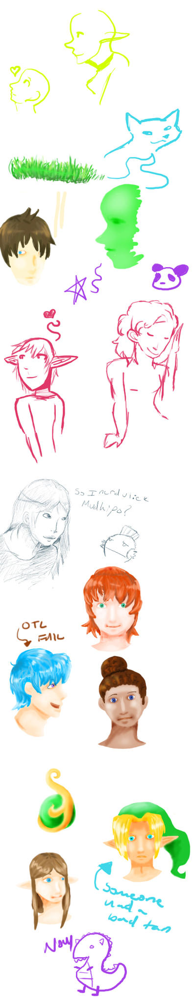 Sketches: technique practice by Twilian-Princess