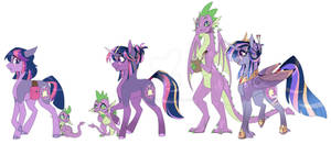 Mane 6 Redesign - Twilight and Spike
