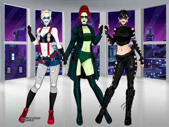 DCEU - Gotham City Sirens (Girls Night Out 1) by QuingMatty