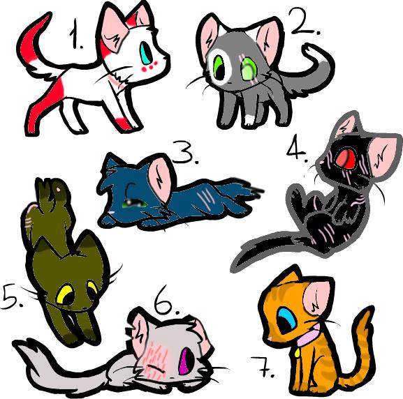 5 Point Kitty Adopts (5/7 OPEN) by Winterz-Adoptz