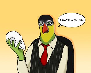 David Lillie has a Skull. by JacobJawson
