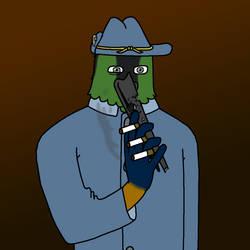 Carlos Colibri (Hummingbird Gunslinger) by JacobJawson