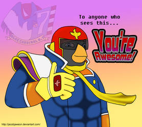 Captain Falcon says You're Awesome! (Fan-Art) by JacobJawson