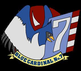 Blue Cardinal No. 7 (icon) by JacobJawson