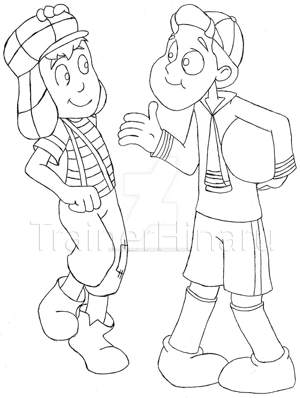 Dibujos para imprimir del chavo y nono chavo y quico by for Chavo del ocho coloring pages