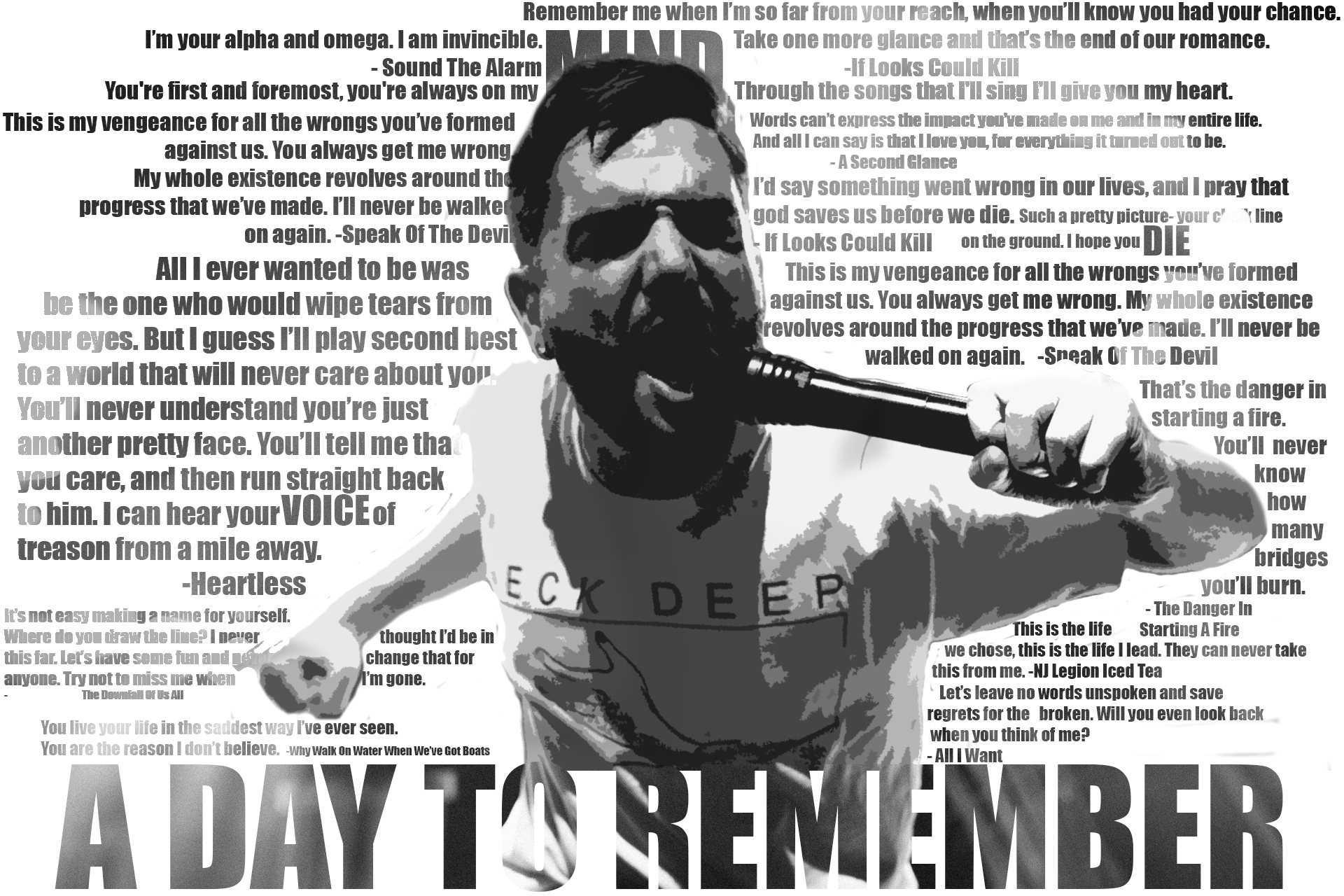 A Day To Remember Lyric Wallpaper By Hysterian On Deviantart