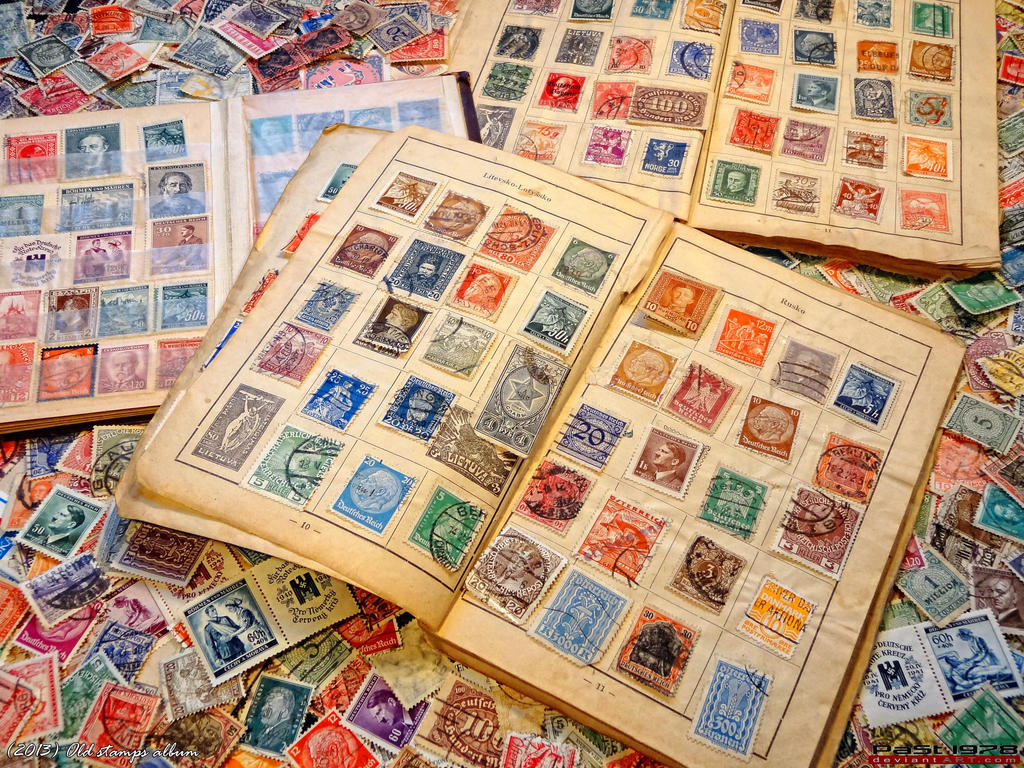 Old stamps album by past1978 on deviantart