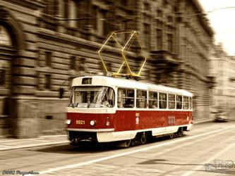 Prague tram by PaSt1978