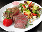Sirloin with Strawberry Salad