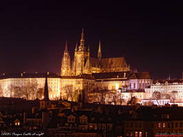 Prague Castle at night by PaSt1978