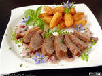 Duck breast with cranberries
