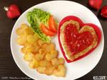 Valentine's hamburger
