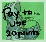 :Pay to Use Pikus Fox Lineart:(20 points):