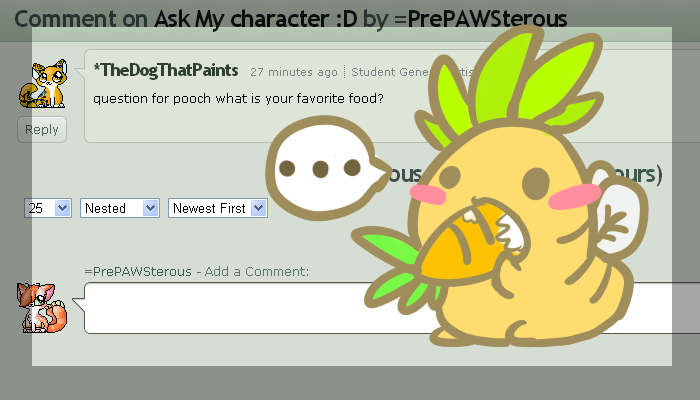 :Ask my Character#3: by PrePAWSterous