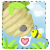:Free Use Bee and Hive Icon: by PrePAWSterous