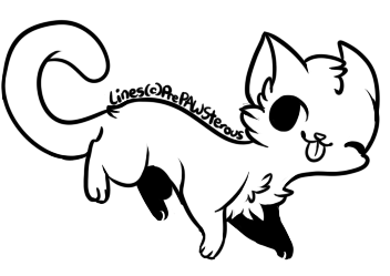 :Free Use Cat Lineart(2): by PrePAWSterous