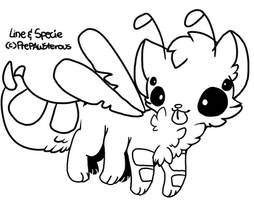 :Free Use Kittyfly Lineart: by PrePAWSterous