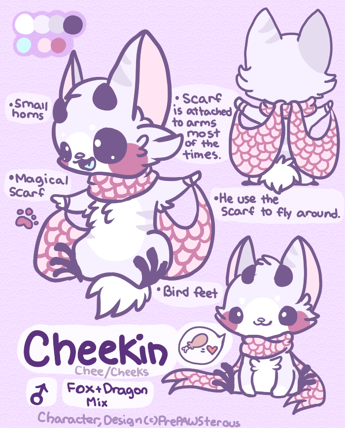 :Cheekin Reference Sheet: by PrePAWSterous