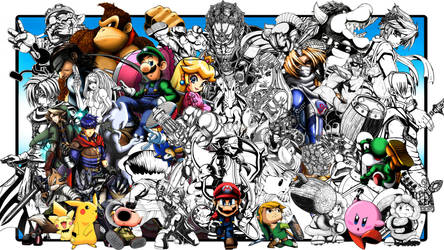 SUPER SMASH BROS TRIBUTE WIP by PhazonRidley