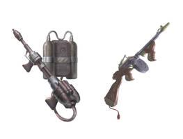 Steampunk weapon set B