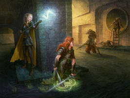 DnD Sewer Campaign - Commission by Asfodelo