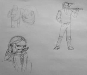 Vikings Sketch Dailies