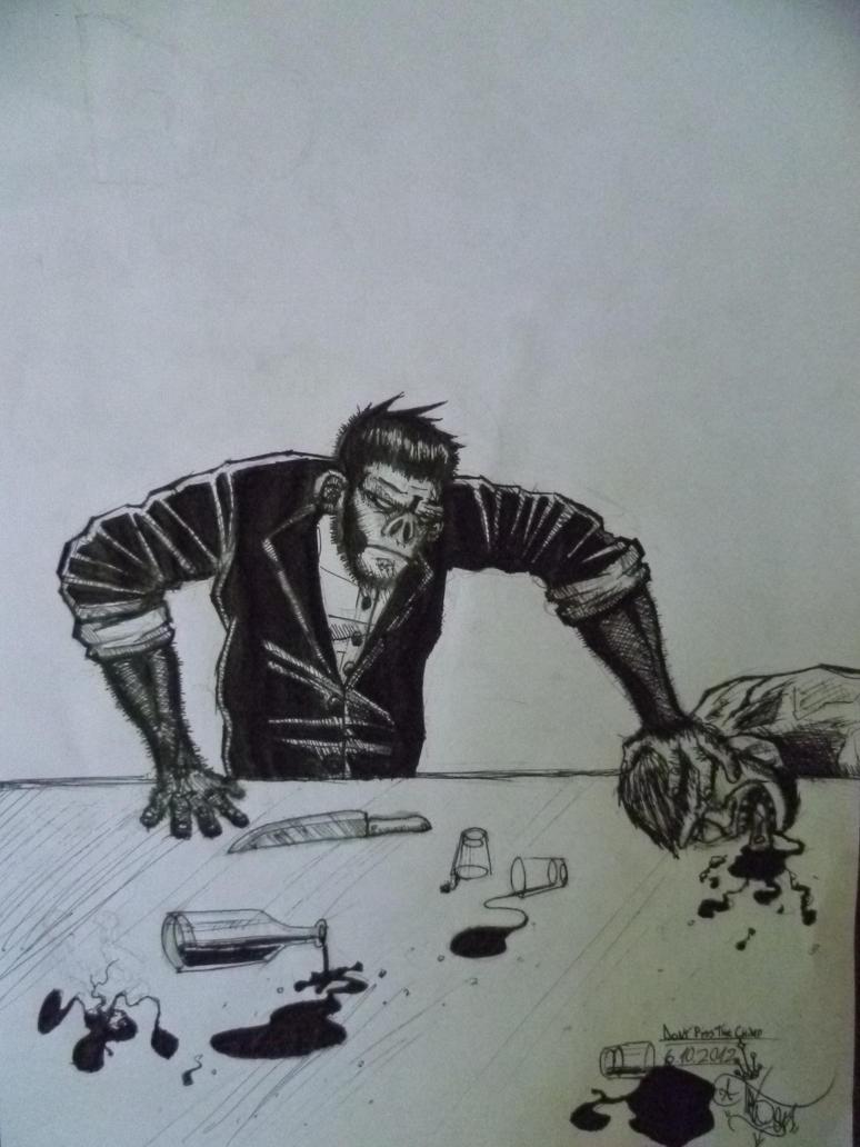 Mad chimpanzee by Pablo666123