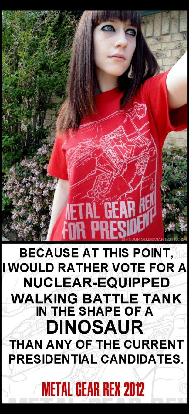 Metal Gear REX for President 2012 by Shinjukou