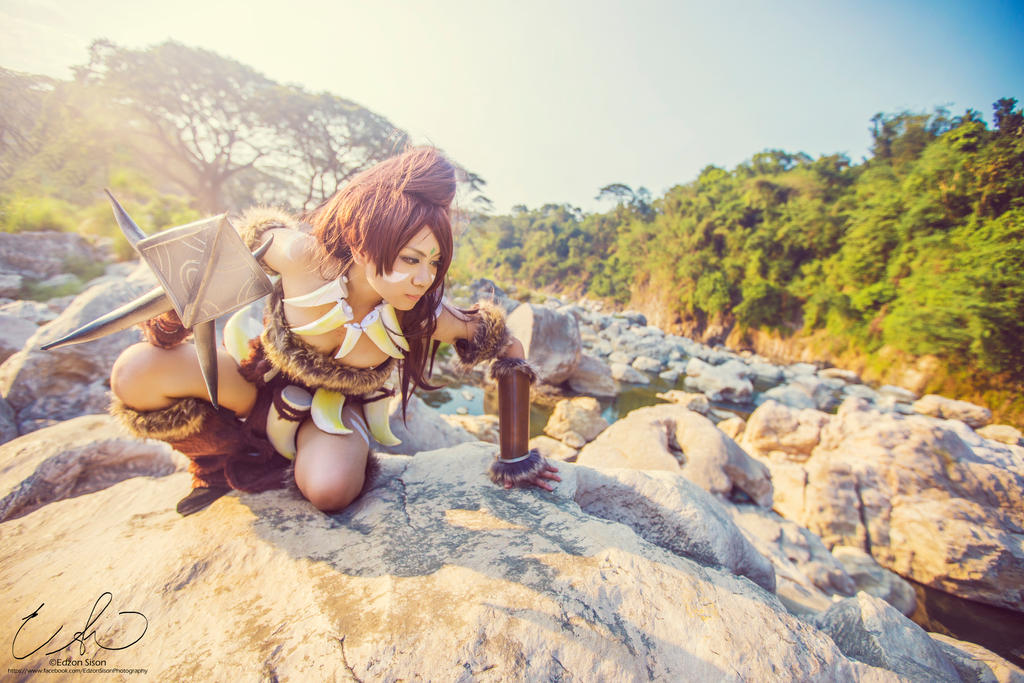 League of Legends Nidalee by Kasume-chan