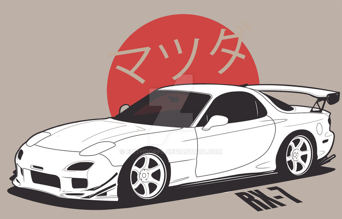 It's just a photo of Clean Mazda Rx7 Drawing