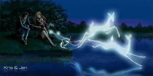 Severus and Lili Patronus by jen-and-kris