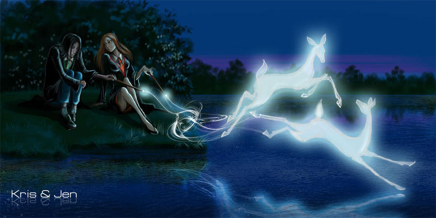 severus and lili patronus by jenandkris on deviantart
