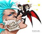 Bleach.  Grimmjow and Tsubaki