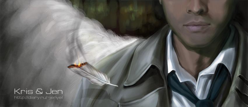 Supernatural.Castiel by jen-and-kris