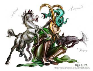 Loki's children. by jen-and-kris