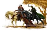 Horse riding.