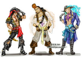 Whitebeard pirates by jen-and-kris