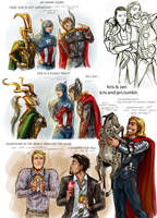 Sketch.The Avengers by jen-and-kris