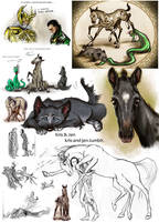 Sketch.Loki's children by jen-and-kris