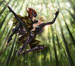 Sasuke and Kasuga.