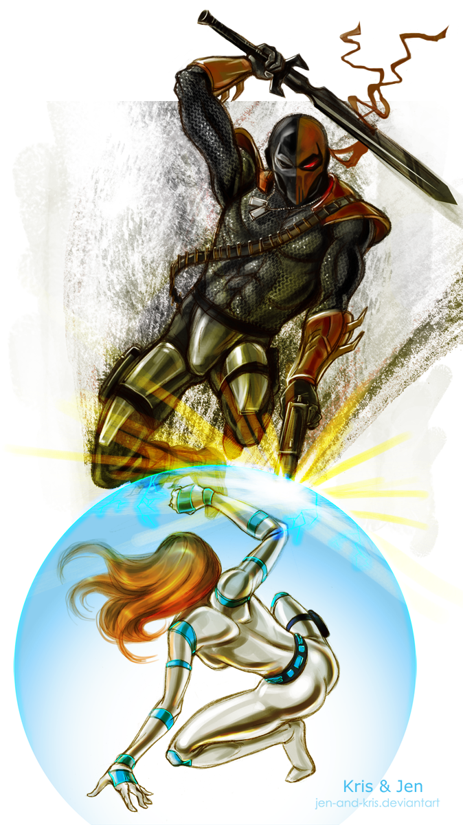 Kim Possible vs Deathstroke by jen-and-kris