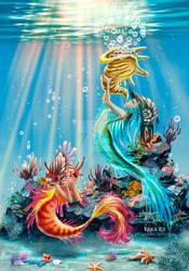 Mermaids by jen-and-kris
