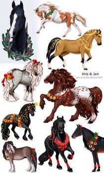 Commission.Horse Christmas Dekor