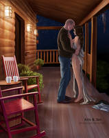 Commission. Summer evening by jen-and-kris