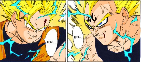 Goku Vs Majin Vegeta By RAGOH