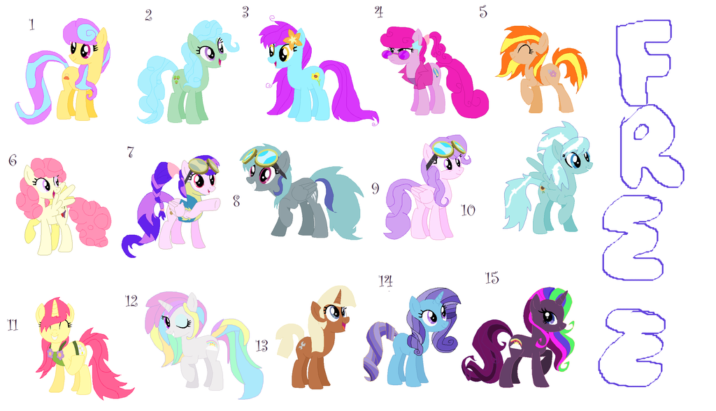 free my little pony adoptables 2 left open by liltavi on deviantart