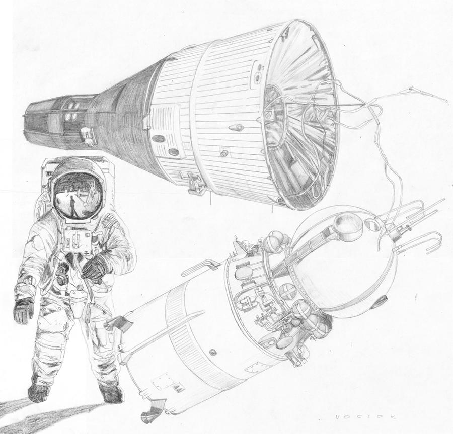 Space Race Pencil Draw...