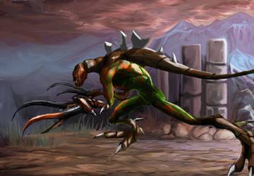 mantis raptor creature by Shane-D-Solomon